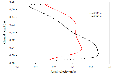 Numerical analysis of heat and nanofluid mass transfer in a channel